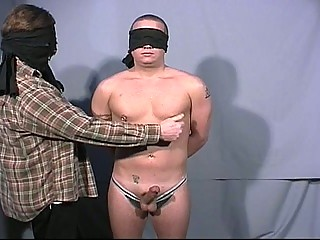 Blindfolded gay dudes go convenient always others big cock