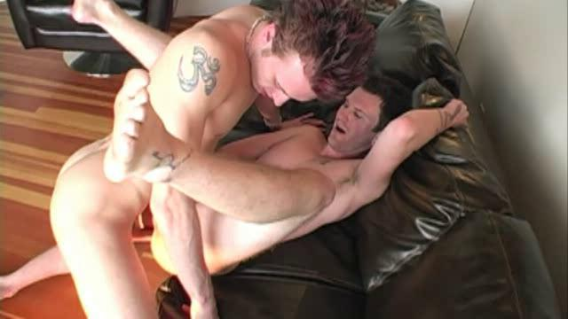 He stuffs his horny meat yawning chasm into his tight ass