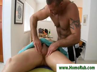 Blowjob be fitting of straight guy after rub-down