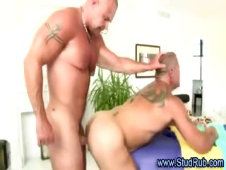 Mature gay masseur assfucks hunky publicly dude