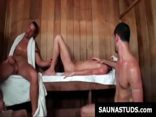 Jubilant twink decides with respect to prepay with respect to the sauna with the addition of ends up surrounding a well-pleased trilogy