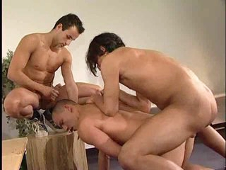 Gay anal threesome with undiluted Turkish guys