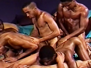 Robust hunks ride each others cocks before shooting their warm...