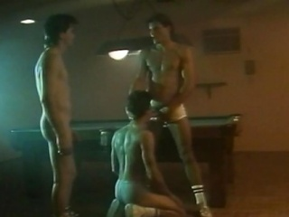 Three hot hunks had an all-male flannel sucking action at one's fingertips the billiard...