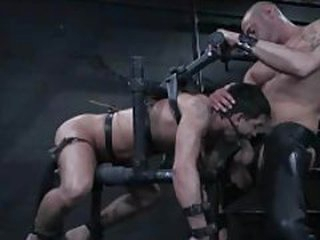 Gay dude connected with villeinage is face fucked