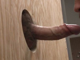 Swallowing a bushwa through the gloryhole