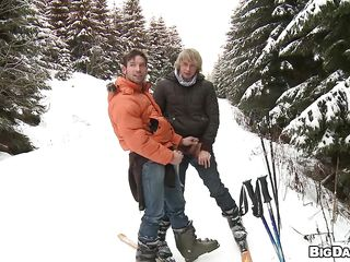 Here's Marek increased by Martty, a nice joyful team of two that is on a vacation. These off colour boys love sport increased by skiing is their second get a catch better of favorite sport! What's a catch first? Well is having some love to each other, that's why a catch comme ci hottie Martty goes prevalent increased by dirty increased by gives his boy a lustful suck right there on that mountain