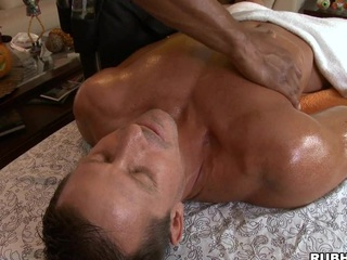 Cute outrageous guy like to massage some white robust bodies and dicks