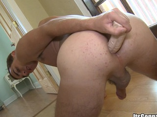 Lose one's train of thought alms-man craves to  realize juicy cock take his muscular ass, enjoy!