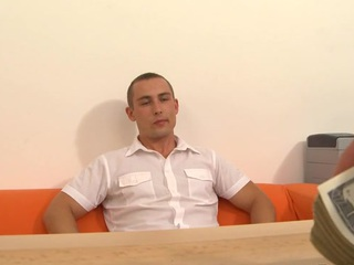 Cute gay radiate gets his taut fundament hole thrashed