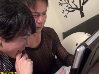Analized asian cum soaked